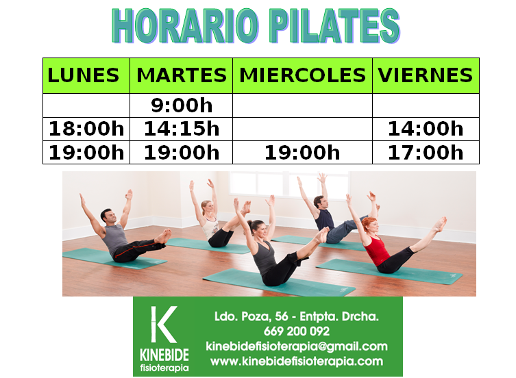 Captura horario pilates